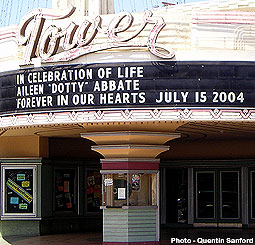 Tower Theatre Tribute to Dotty Abbate